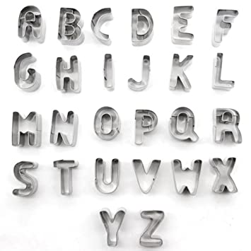 Kalinu - Juego de moldes para galletas con 26 letras