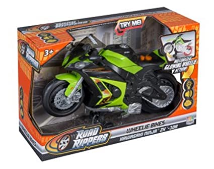 Amazon.com: Toystate Road Rippers Wheelie Bikes - Kawasaki ...