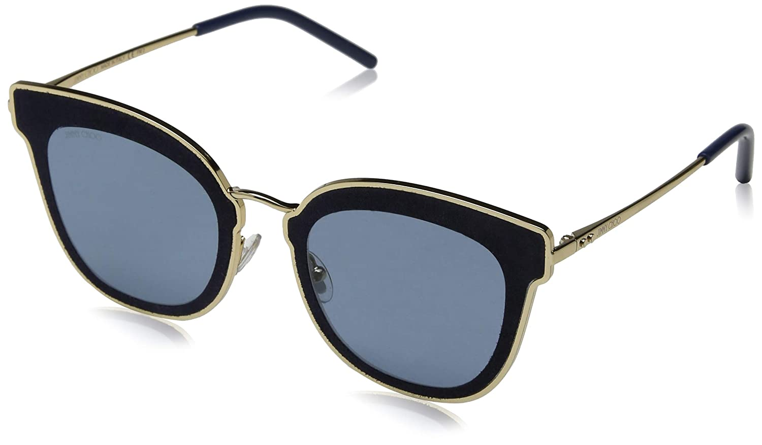 8cec2f20bcb8 Jimmy Choo sunglasses (NILE-S LKS/A9) Gold - Glitter Blue - Blue lenses at  Amazon Women's Clothing store: