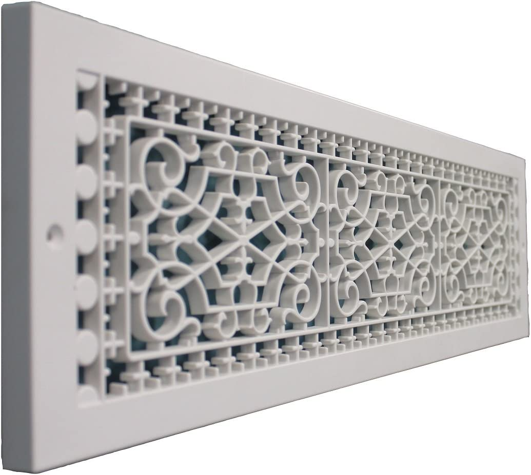 SMI Ventilation Products VBB628 Cold Air Return - 6 in x 28 in Victorian Style Base Board - Overall Dimensions 8 in x 30 in