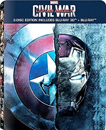 Amazon.com: Captain America: Civil War 3D Blu Ray Exclusive ...