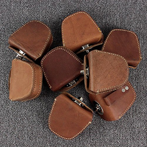 FIREDOG Handmade Thick Genuine Leather Ammo Pouch Storage Bag for Slingshot Balls Rifle Pellets ()