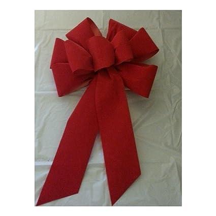 3 large 10 hand made christmas bows red velvet indoor outdoor wreath ribbon - Large Christmas Bows
