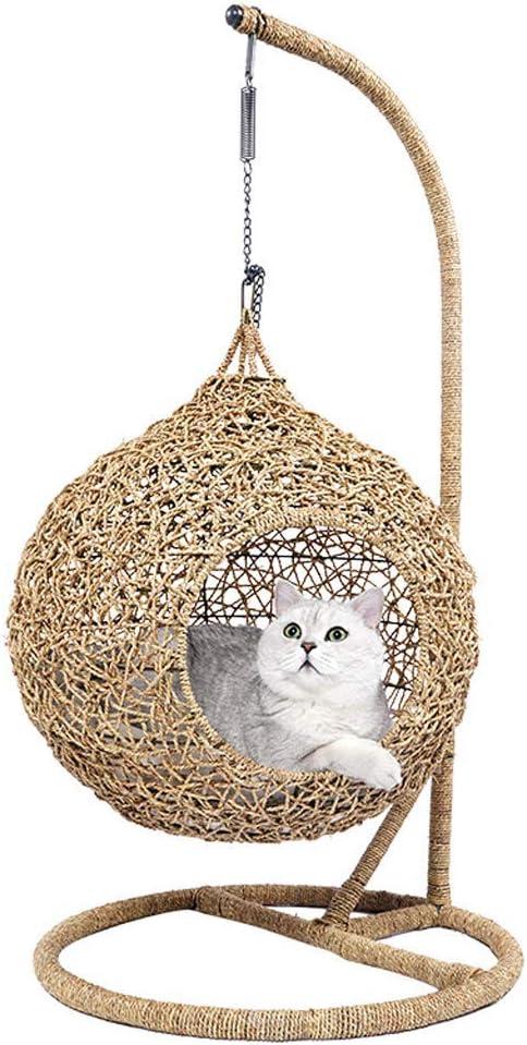 XHPWW Cueva para Gatos de ratán, Cueva para Perros, Cesta para Gatos de Sauce, Cesta para Perros, Cama para Gatos 60 x 60 x 115 cm: Amazon.es: Productos para mascotas