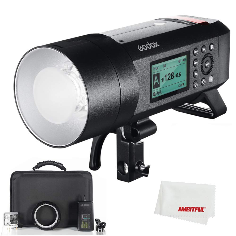 Godox AD400Pro WITSTRO All-in-One Outdoor Flash AD400Pro Li-on Battery TTL HSS with Built-in Godox 2.4G Wireless X System by Godox