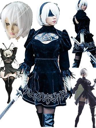 NieR:Automata Cosplay Costumes Yorha No. 2 Type B Cosplay Costume 2b  Halloween (