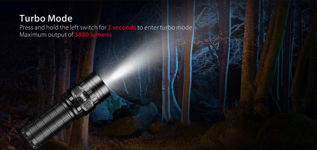Promisen IMALENT DN70 XHP70 3800LM 26650 LED Flashlight Tactical Rechargeable Lighting by Promisen (Image #5)