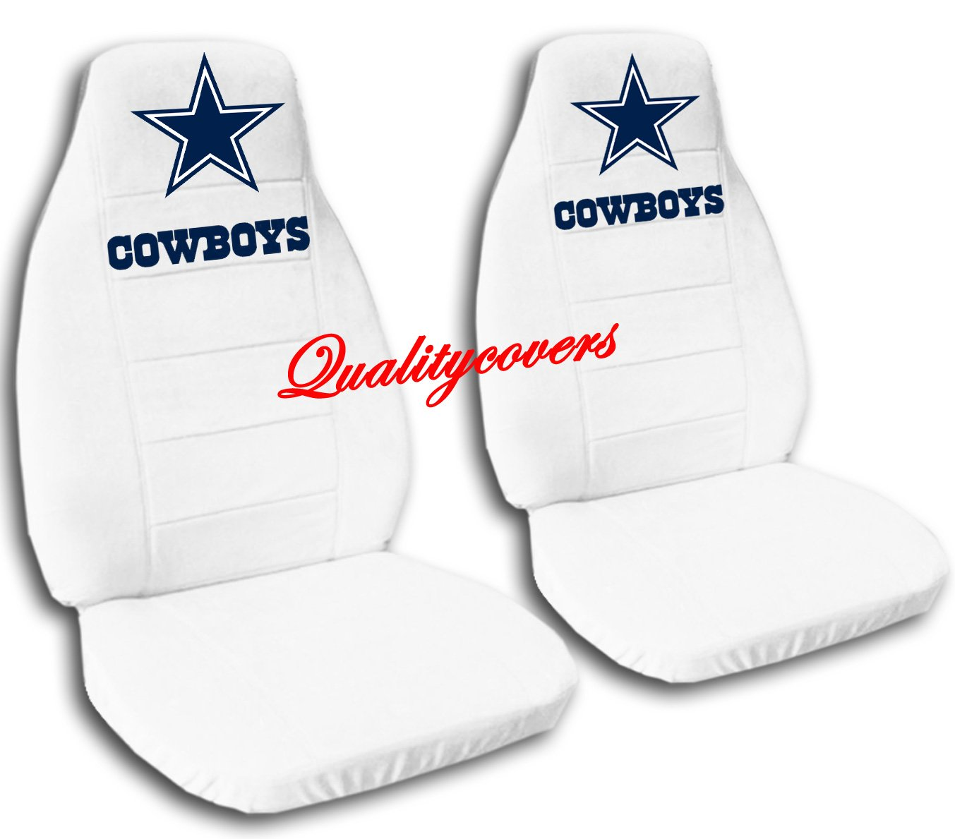 2 White Dallas seat covers for a 2007 to 2012 Chevrolet Silverado. Side airbag friendly.