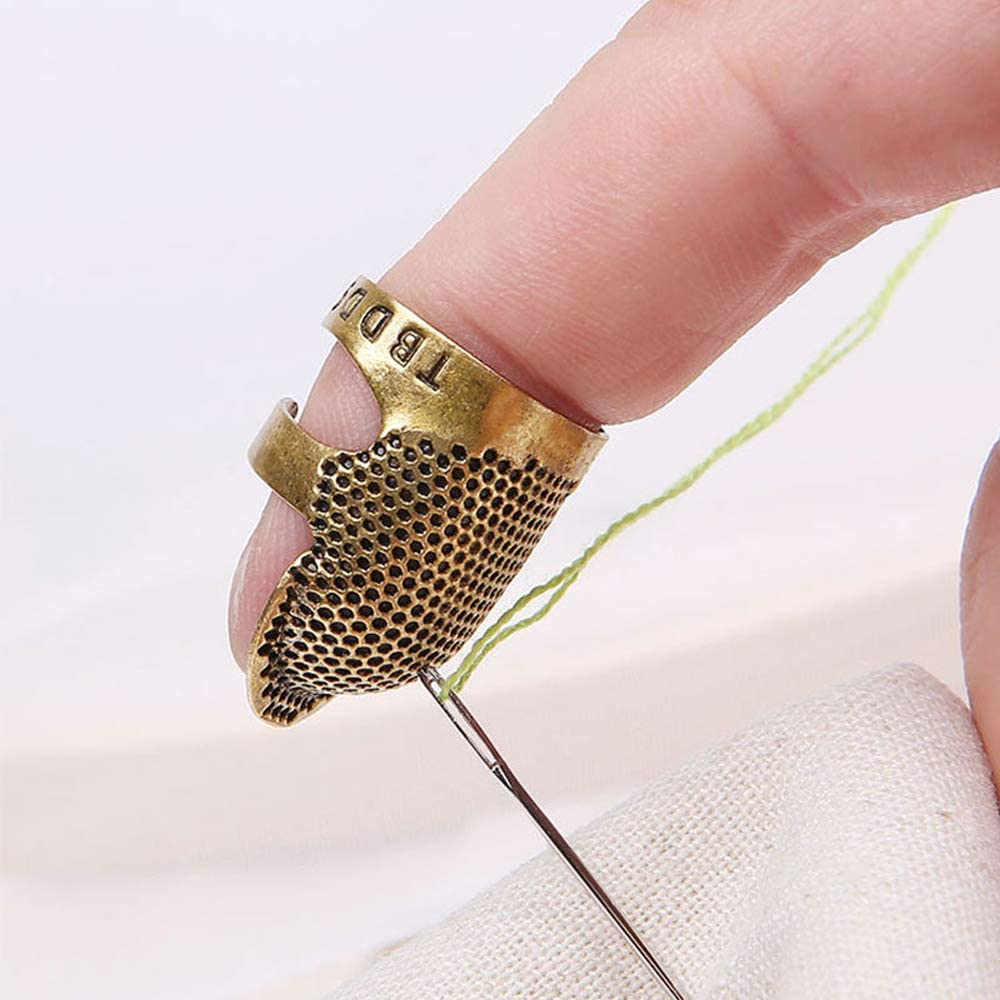 KESYOO 20 Piezas Costura Dedal Protector de Dedo Dedo Pl/ástico Protector Pin Agujas Costura Acolchado Artesan/ía Arte Herramienta Estilo Mixto