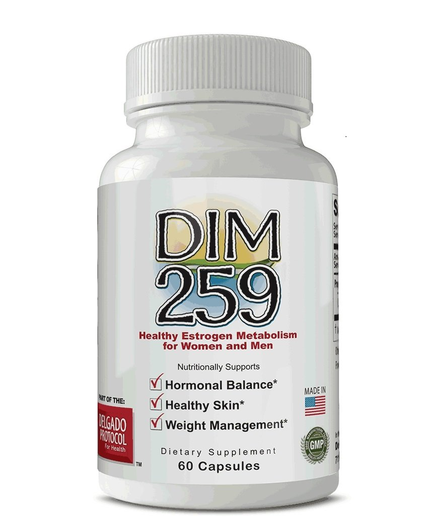 DIM 259 (Two Month Supply) Estrogen Metabolism and Hormonal Balance. for Hormonal Acne, Menopause, Weight Management, Healthy Skin and Body Building. Organic Vegan Caps.