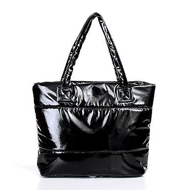 54cd9d95c0 Femme sac à main noir sac à bandoulière pochette Matériau souple Mode  Brillant: Amazon.fr: Vêtements et accessoires