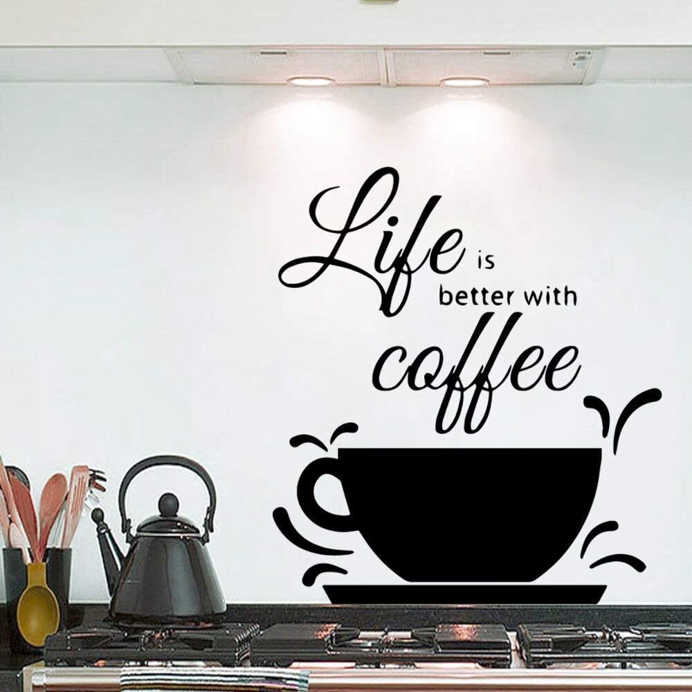 Ajcwhml Nuevo diseño Life Better Sentence Room Decoration Mobile ...