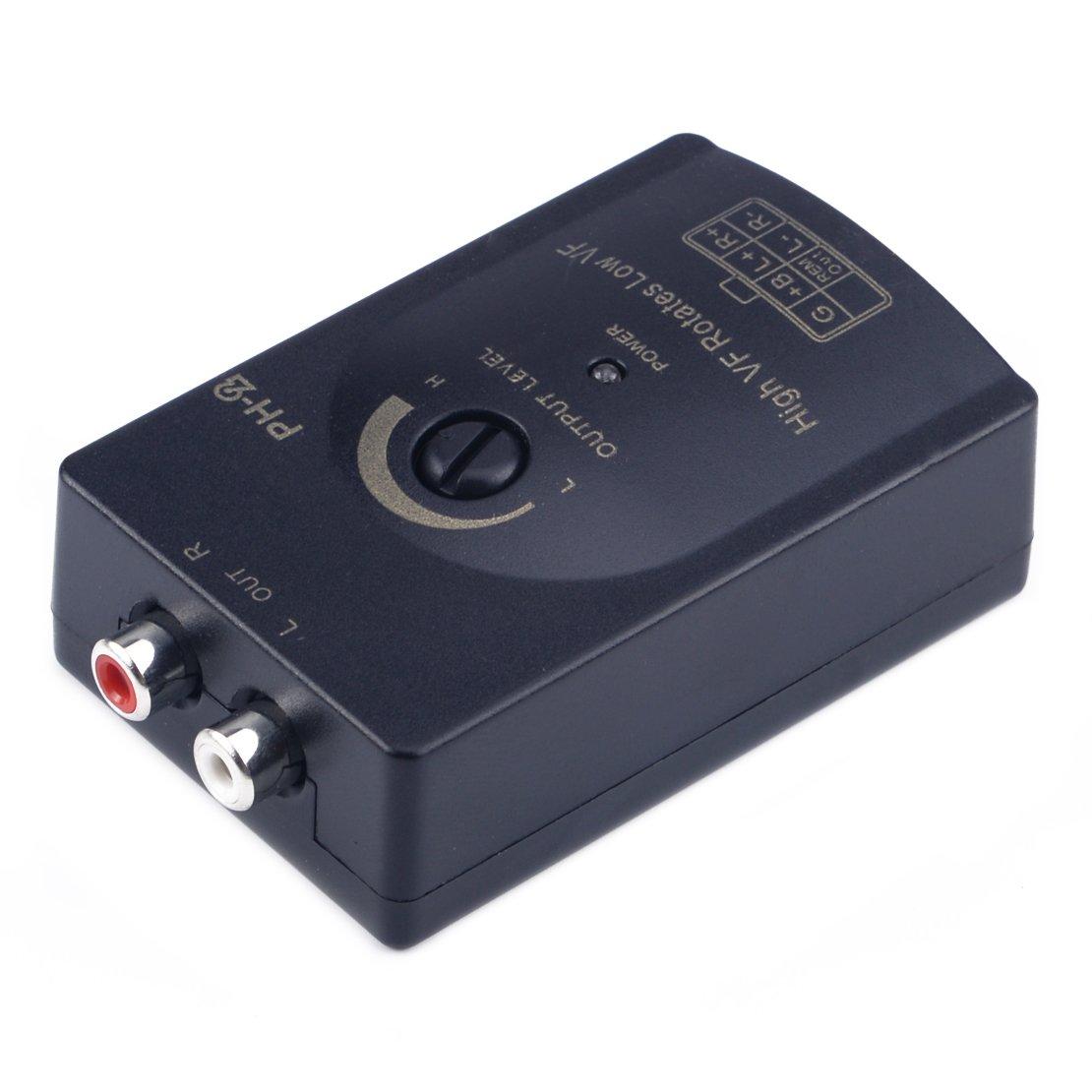 beler Haut-parleur de RCA professionnel de voiture de 0-2V audio haut /à bas niveau sommateur de ligne de sortie convertisseur et adaptateur de c/âblage