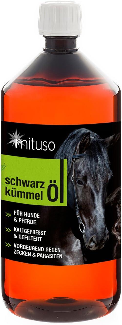 Mituso Aceite De Comino Negro Mituso 1L Para Perros Y Caballos, Prensado En Frío Y 100% Puro 1000 ml