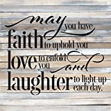 Artistic Reflections Pallet Art RE1091w May Have Faith to Uphold You, 28'' x 28'', Multicolored