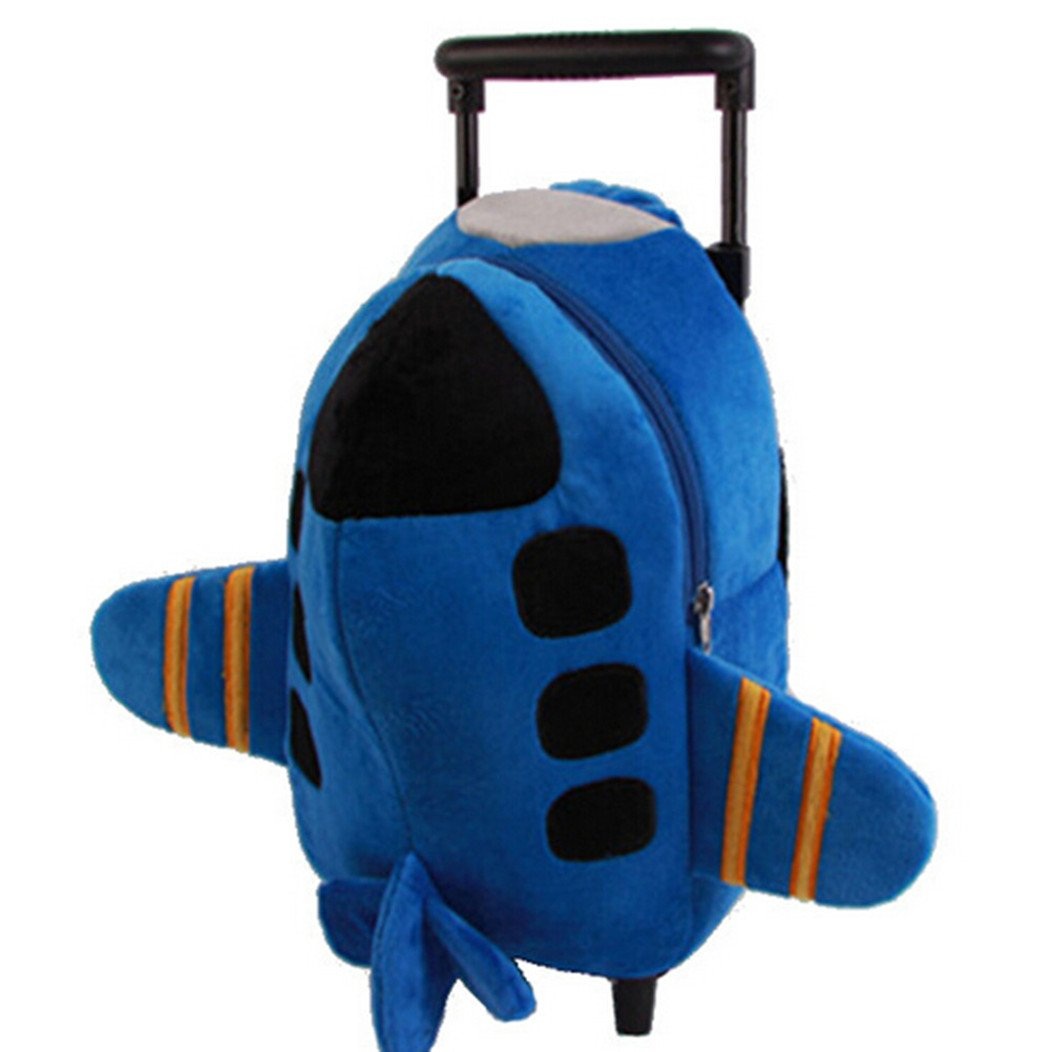 Children School Bags with Wheels Backpack in Kindergarten Rolley Bag Toy Airplane