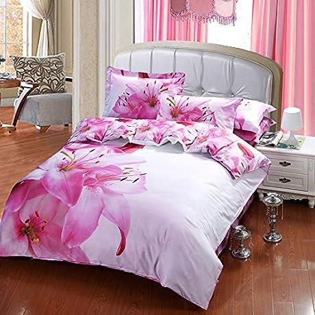 ZQ 3D Fashion Comfortable Floral Print Bedding Four Piece Picture 1 245270CM