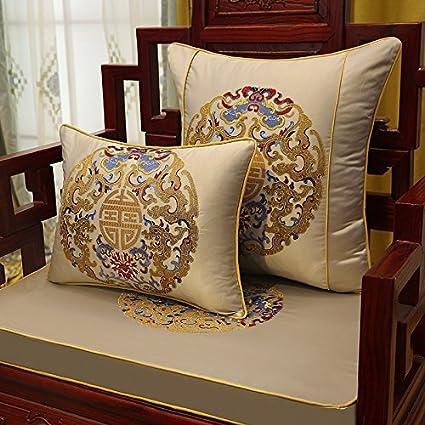 NUEVO estilo clásico Muebles de caoba sofá cojín Sillón Acolchado ...