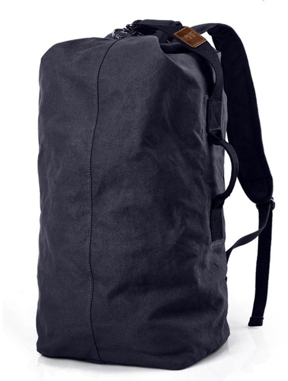 WOMJIA Oversized Heavy Duty Canvas Travel Duffel Bag 40 Liter Blue