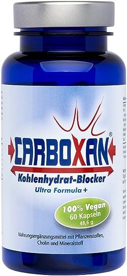 CARBOXAN Bloqueador carbohidratos   Quema-grasas natural   OPC-extracto de semilla de uva, alholva, alubias blancas, Fenogreco, colina, Zinc   ...