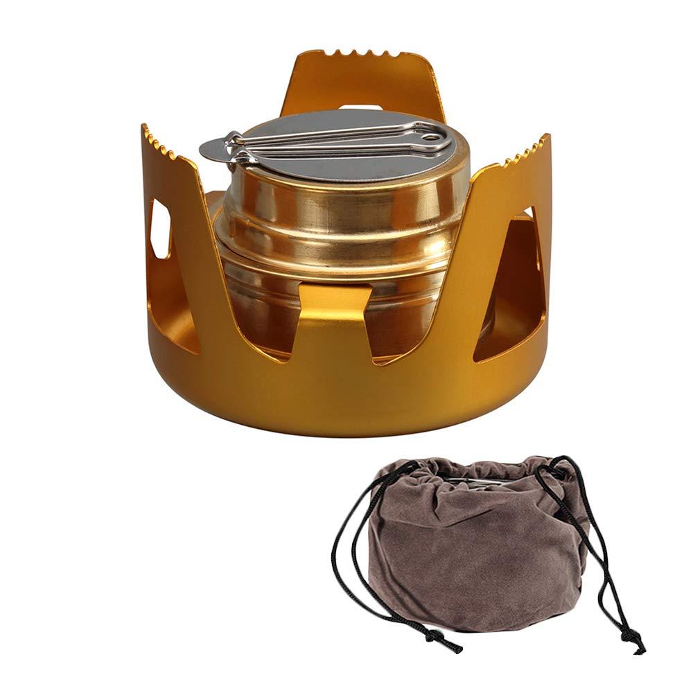 Barbacoa HXHON Quemador de Alcohol Mini Port/átil Aleaci/ón de Cobre Esp/íritu Cocina de Camping con Bolsa de Almacenamiento para Picnic Barbacoa