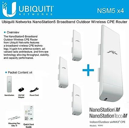 Ubiquiti NSM5 NanoStation M5 5GHz Outdoor AirMAX CPE 150+Mbps 15+km Unidad de Disco óptico
