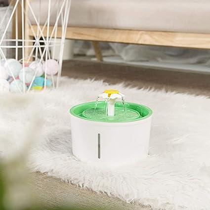 Fuente De Agua del Gato,Dispensador De Agua para Mascotas De Ciclo AutomáTico Ultra Silencioso