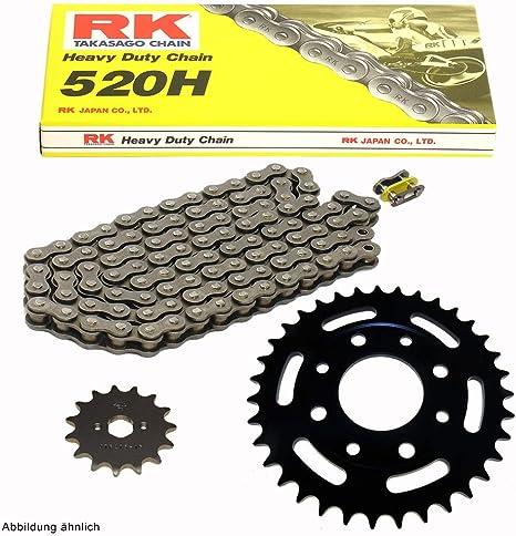Kettensatz geeignet f/ür Yamaha RD 200 78-80 Kette RK 428 H 112 offen 15//39