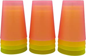 Children'S Cup-12 Sets Of Children'S Plastic Cups-10oz Children'S Juice Cup-Party Cup-Water Cup-Picnic Cup-Dishwasher Safe-Bpa Free Cup-4 Bright Colors-Suitable For Bright Children And Toddlers