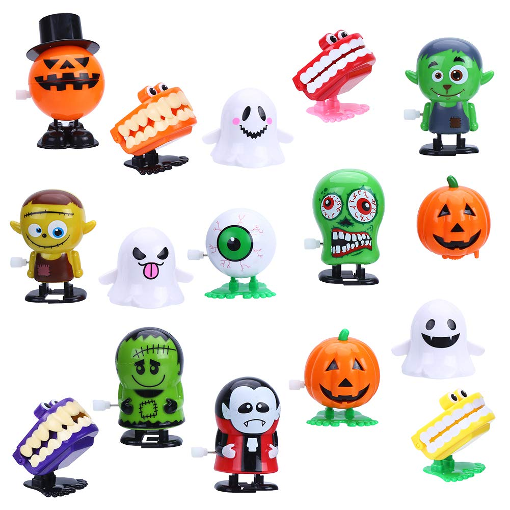 CCINEE 16pcs Wind-up Toys Assorted Clockwork Toys Supply for Christmas and New Year Party Favors