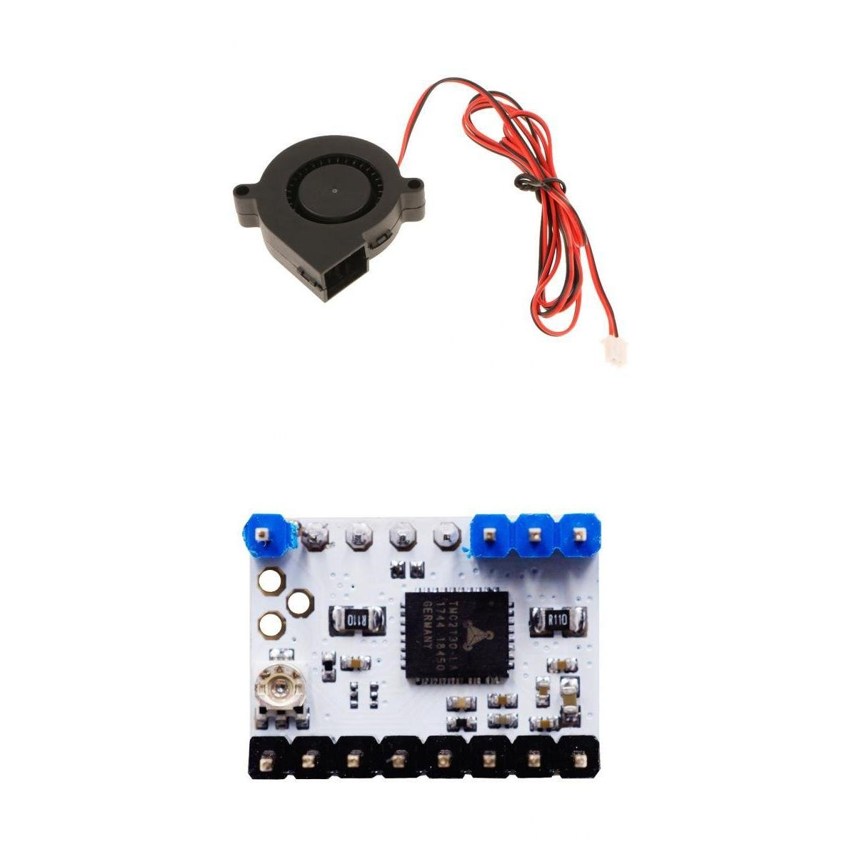 MagiDeal TMC2130 Stepper Motor Driver Module with Heat Sink&Mini Turbo Cooling Fan by MagiDeal