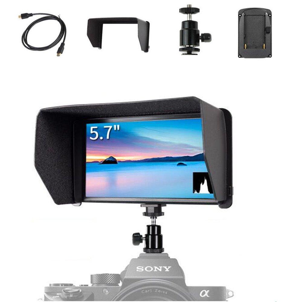 Feelworld F570 5.7インチ IPS 4K HDMI入/出力 フルHD1920x1080 カメラフィールドモニター スタビライザー用 DSLRジンバルリグ用 B0768CCT5T