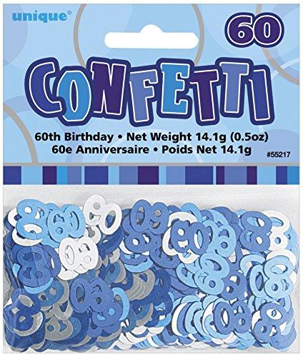 UNIQUE PARTY 55217 - Glitz Blue Foil 60th