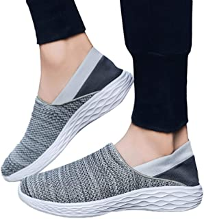 Moonuy Hommes Chaussures Eté En Plein Air Mesh Casual Chaussures De Sport Running Chaussures Respirantes Baskets Casual Slip Sur Chaussures Pour Le Printemps Et L'été