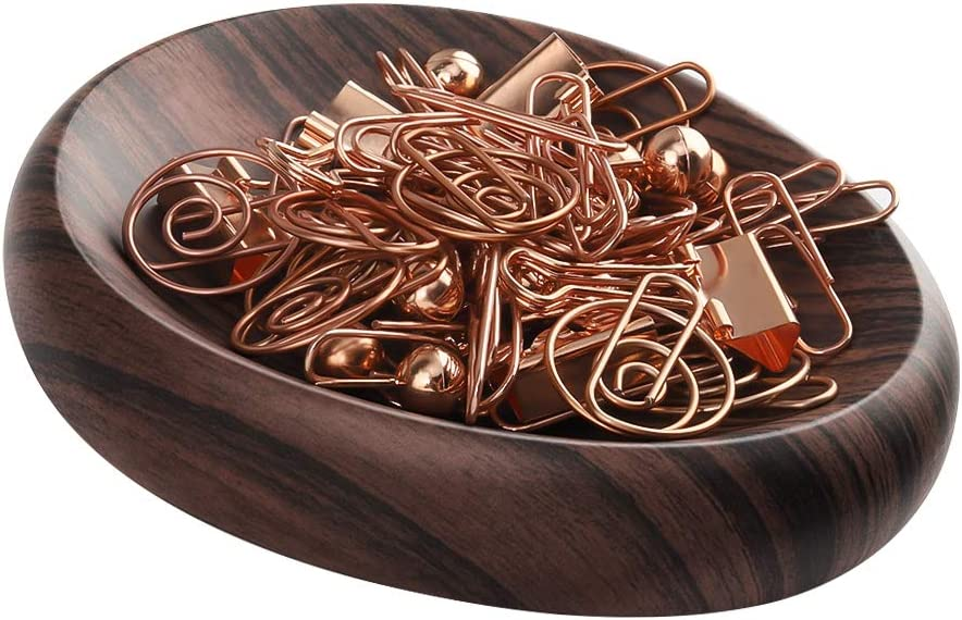 MoKo Magnetic Paper Clip Holder, Push Pin/Hair Snap Clips and Other Magnetic Accessories Holder for Desk Organizer, Desk Decor - Dark Brown 61Dab8EqOkL