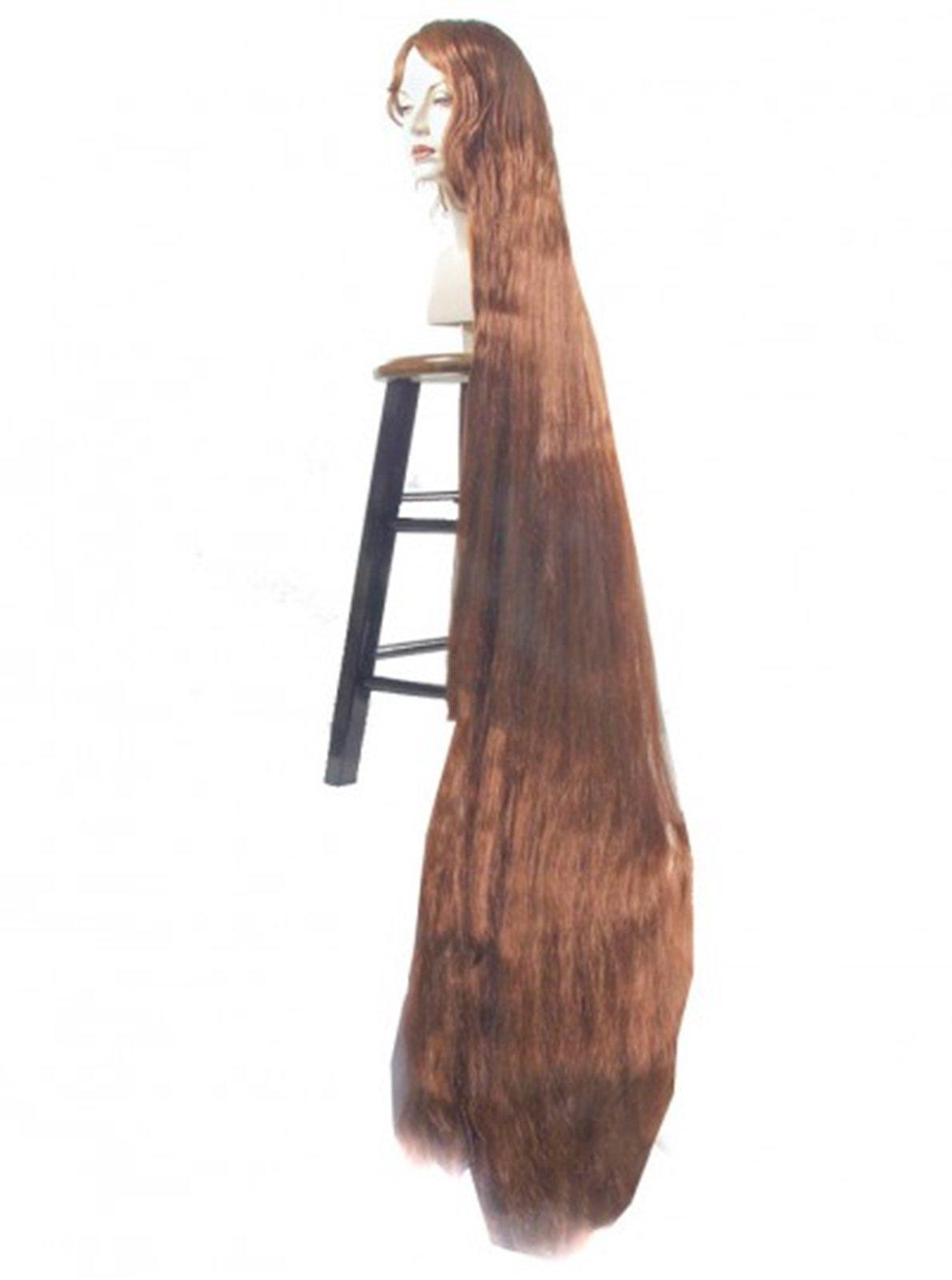 Adult Godiva 5 Foot Long Brown Wig