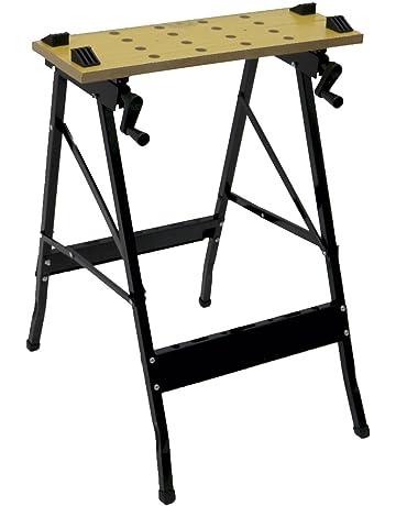 Oypla plegable plegable de caballete banco de trabajo banco de trabajo portátil de 100 kg