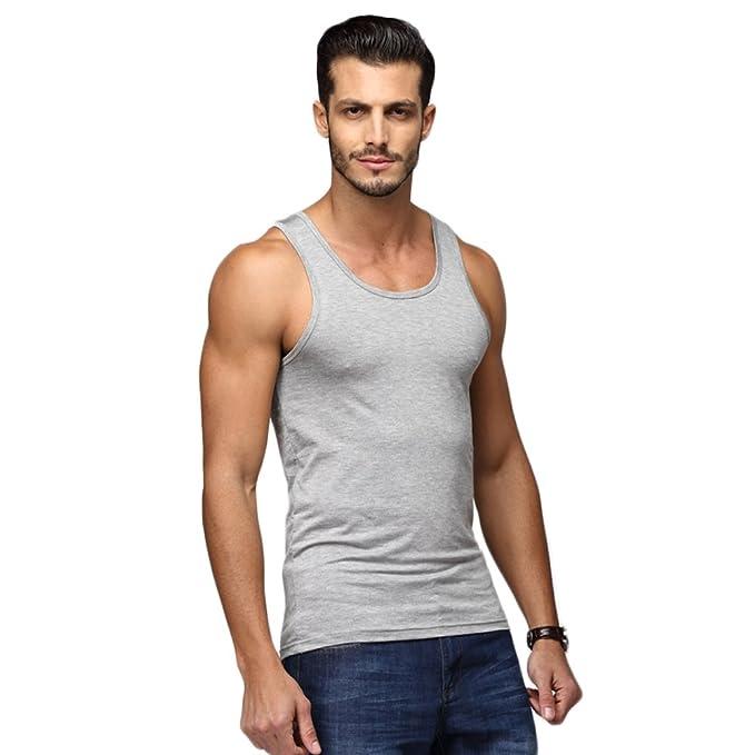 8a67e7ff784c2 Amazon.com  HeyUU Mens Premium Modal Essential Tank Top Sweatshirt ...