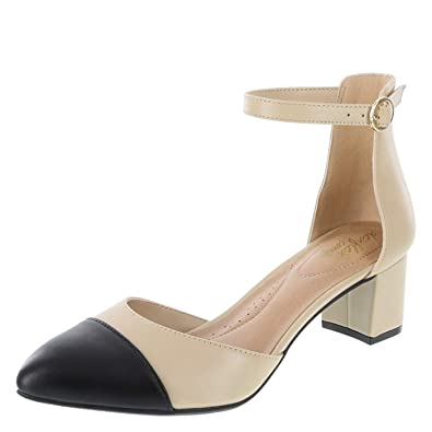 5a8431e1f5b dexflex Comfort Nude Black Women s Jaclyn 2-PC. Low-Heel Pump 5 Regular