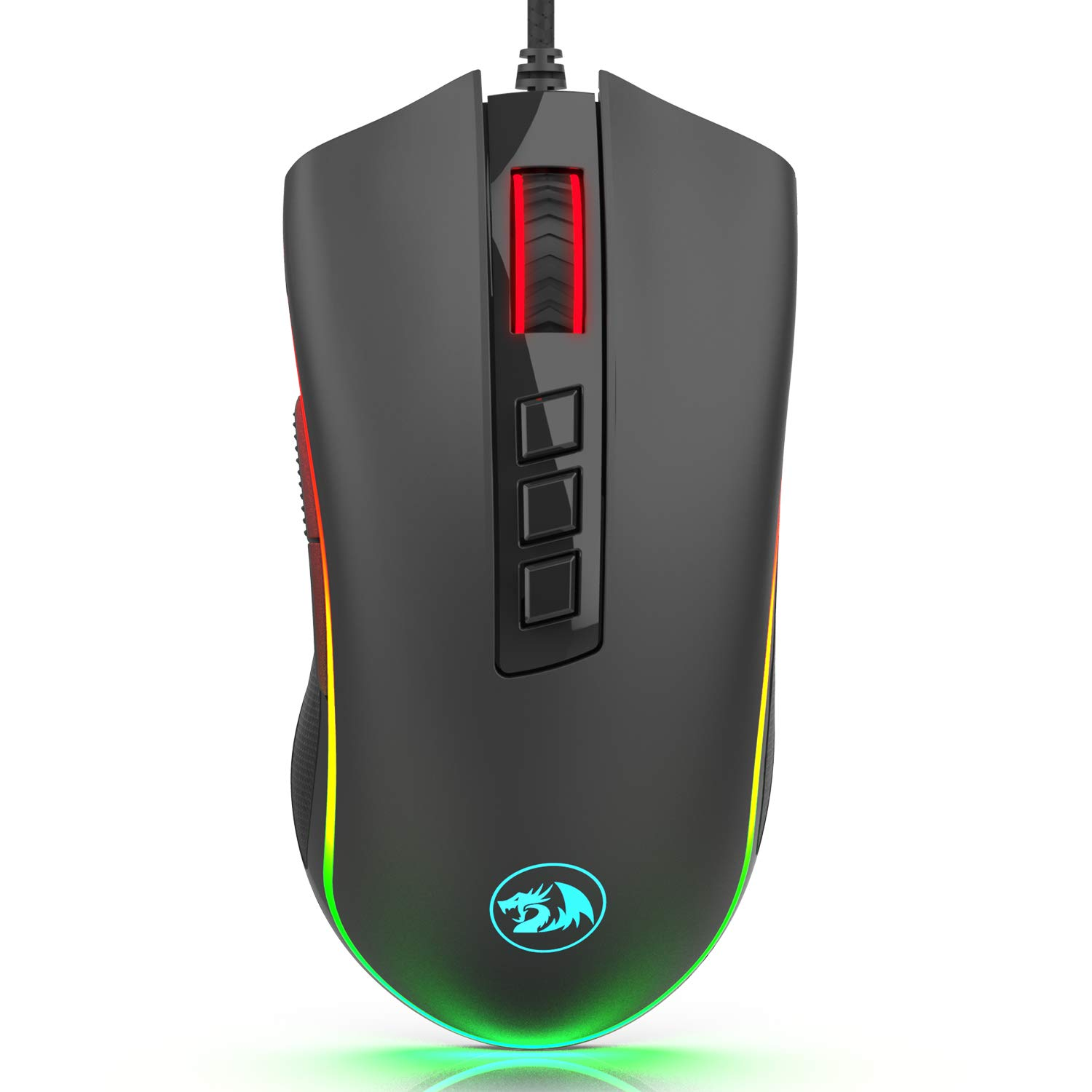 Redragon M711-FPS Cobra FPS Optical Switch LK Gaming Mouse with 16.8 Million RGB Color Backlit, 24,000 DPI, 7 Programmable Buttons