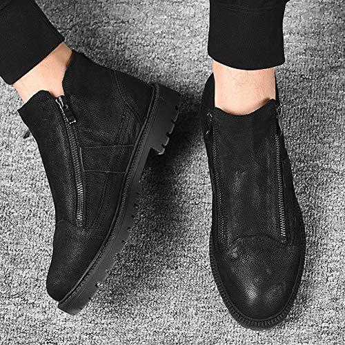 Otoño Moda Cuero Al Y Hombre Hombre Para Casual Un Invierno Zapatos Libre Botas Aire Martin De HqY6w6