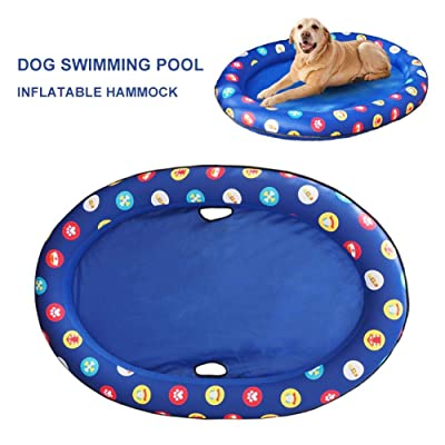 Sanmubo Trade Dog Inflatable Hammock Swimming Pool Float Pet Hammock Float Hammock Summer Swimming Ring Dog Swimming Pool for Dog Cat Pet: Home & Kitchen