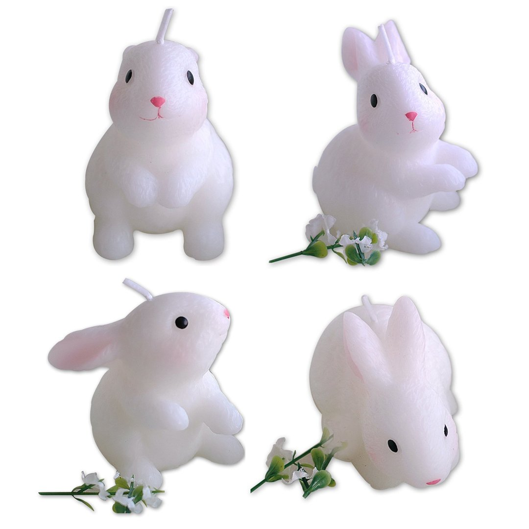 ILIKEPAR Birthday Candles Rabbit Candles Zoo Animal Smokeless Cake Topper Candle for Party Supplies and Wedding Favor (A set)