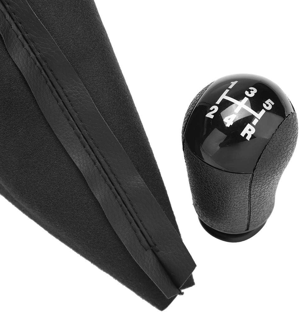 KSTE 5 Speed Gear Memory Stick Pommeau de Levier Gaiter Boot Cover for Ford Focus MK2 2004 /à 2008