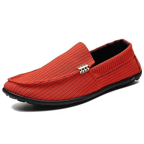 YAN Zapatos de Tela para Hombre, Slip On Casual Plimsolls Mocasines Bombas Zapatos de Cubierta