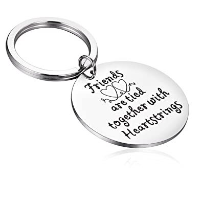 Image Unavailable Not Available For Color Hazado Birthdays Friends Heartstrings Keychain Long Distance Friendship Gifts