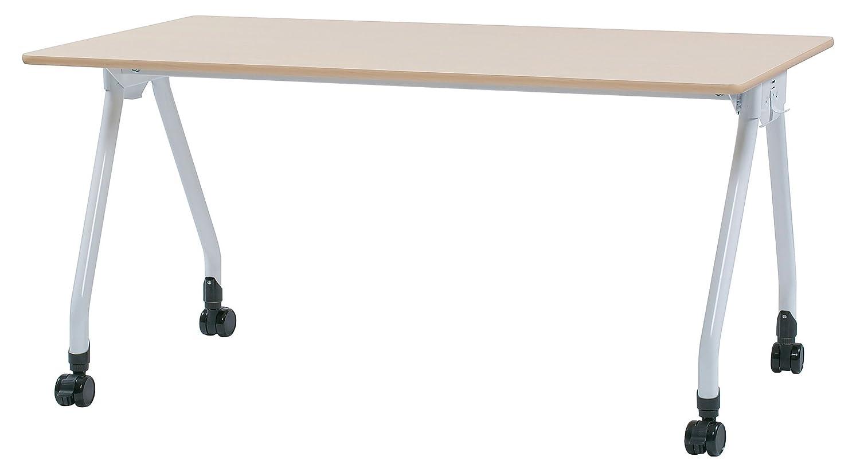 フック付 会議テーブル W1500×D750×H700(mm) 大型キャスター付 Y型脚 GD-658 (NA:ナチュラル) B01MUQ4ZLA NA:ナチュラル NA:ナチュラル
