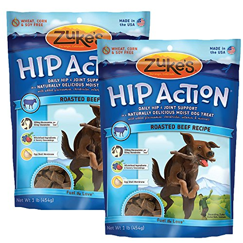Zuke's Hip Action Dog Treats, Beef, 32 oz