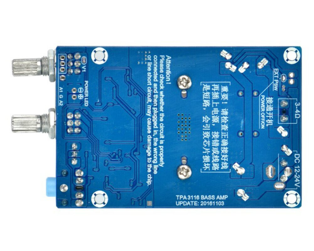 Aoshike Tpa3116 Dc 12 24v 100w Subwoofer Amplifier 2x50w Stereo Class D Audio Power Circuit Board Ebay Electronics