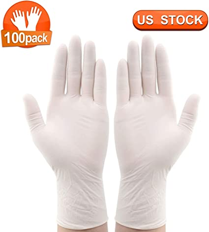 Powder Free Latex Free gloves disposable 100 PCS High Density Vinyl Safety Protective Gloves Disposable Clear Gloves L